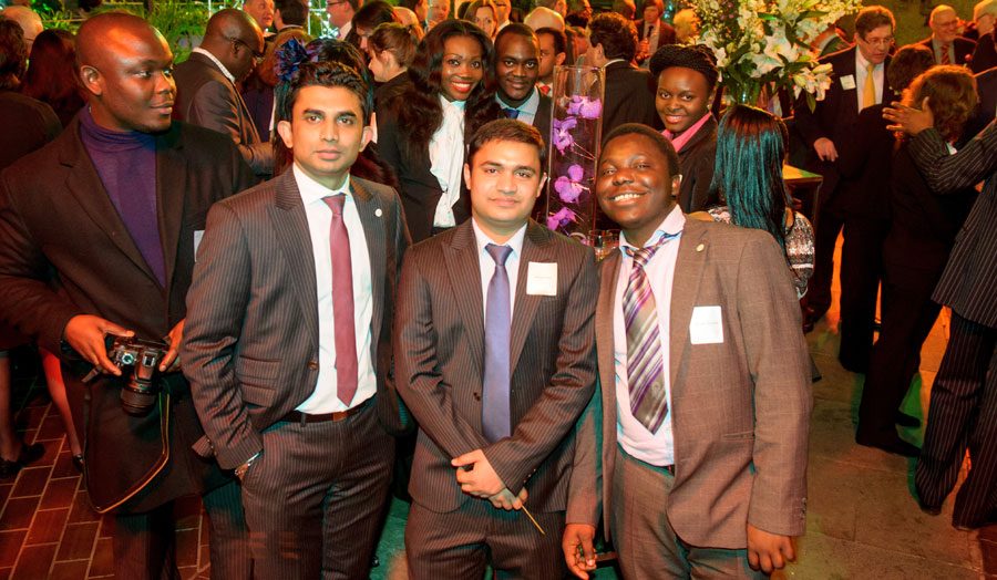 Members of London Met's Students' Union enjoy the celebrations