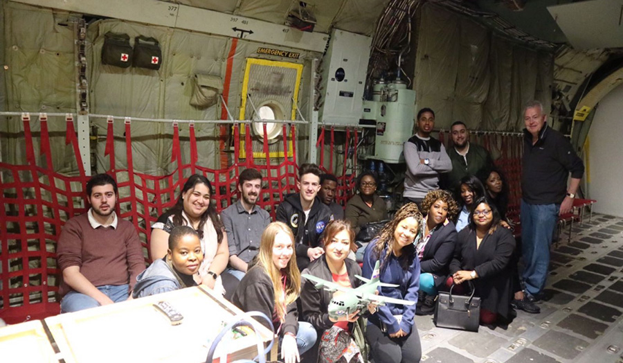 A group of aviation students flew out to America, some for the first time, to experience aviation in the real world.