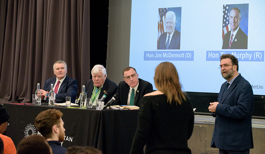 London Metropolitan University welcomed two former US Congressmen to speak about the first year of Donald Trump's presidency on Monday 5 March 2018.