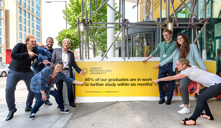 London Metropolitan University has achieved record levels of graduate employment, new government figures released today show.