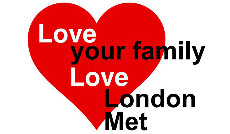 Image of the Love your family, love London Met logo event