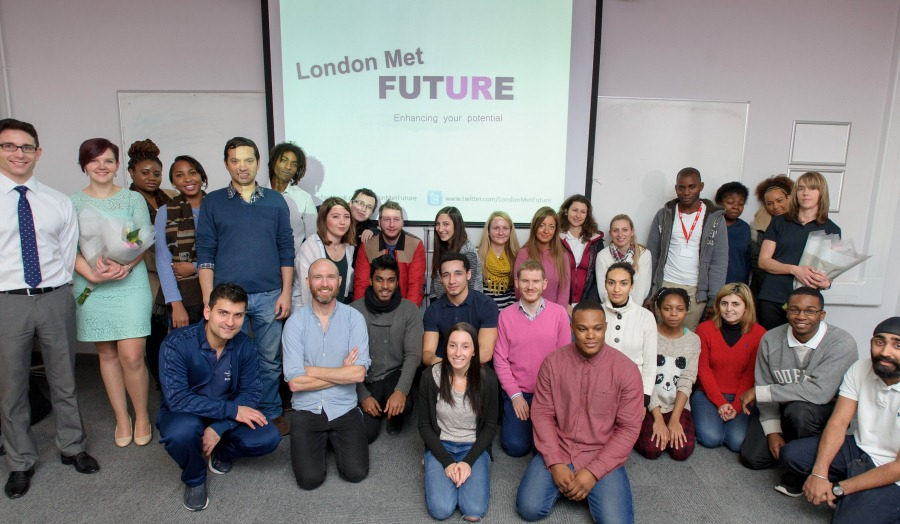 Group shot at London Met FUTURE launch