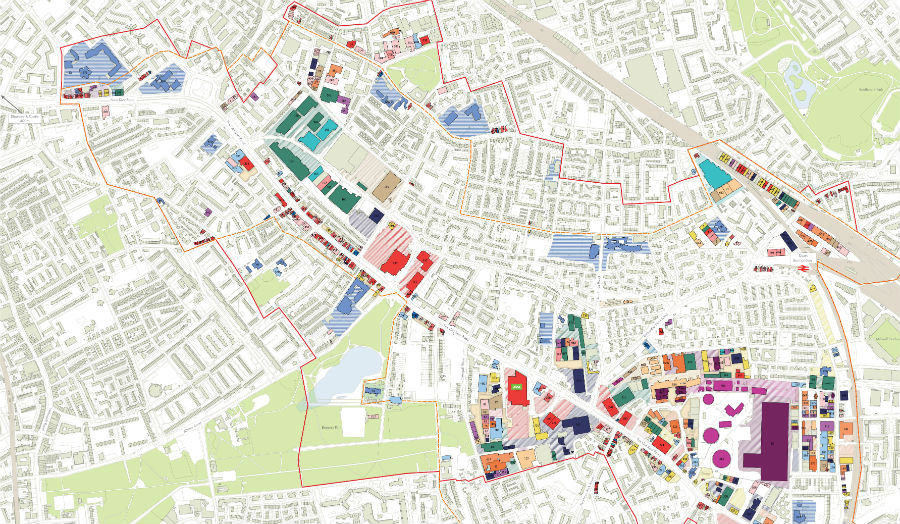 Map of Old Kent Road (cropped) courtesy of Cass Cities