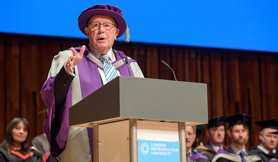Students 'don't believe' they graduated with Richard Wilson