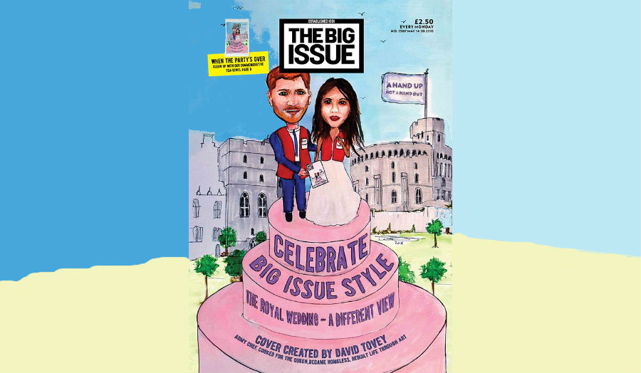 Big Issue Royal wedding cover designed by Cass graduate David Tovey