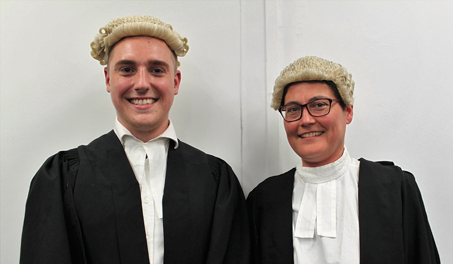Two mooting Law students
