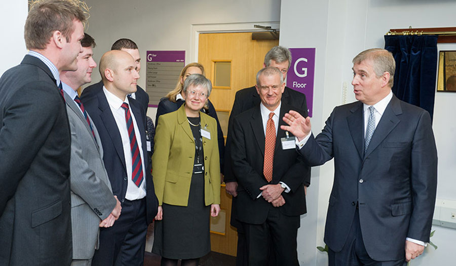 His Royal Highness the Duke of York visiting London Metropolitan University