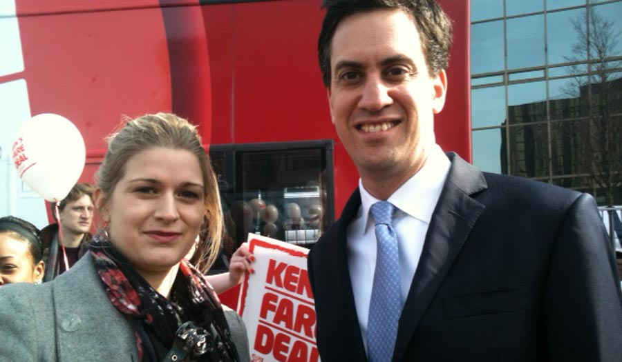 Kate with Labour leader Ed Miliband MP