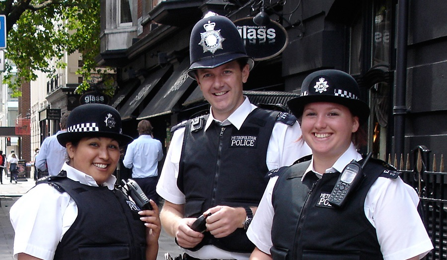 three police officers