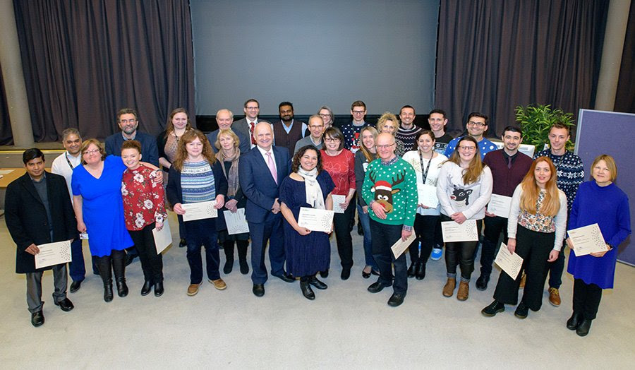 Staff members recognised for outstanding contribution within the University.
