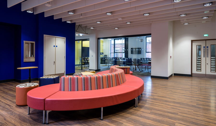 Roding Building first  floor breakout space and communal area