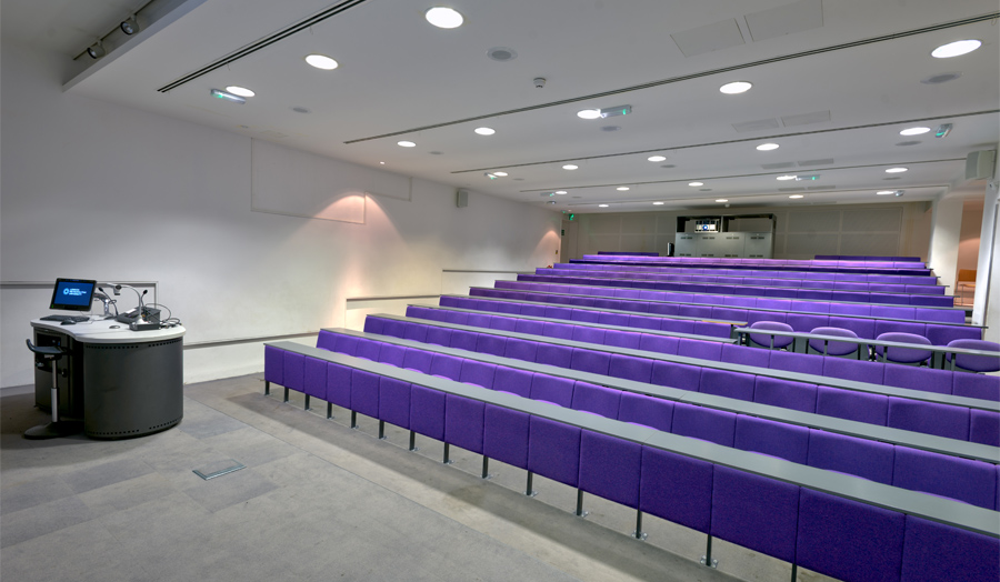 GSB-01 lecture theatre in Goulston Street basement