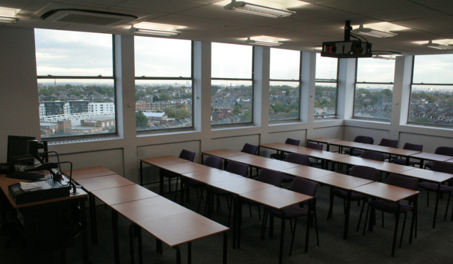 T-11 classroom with views across London