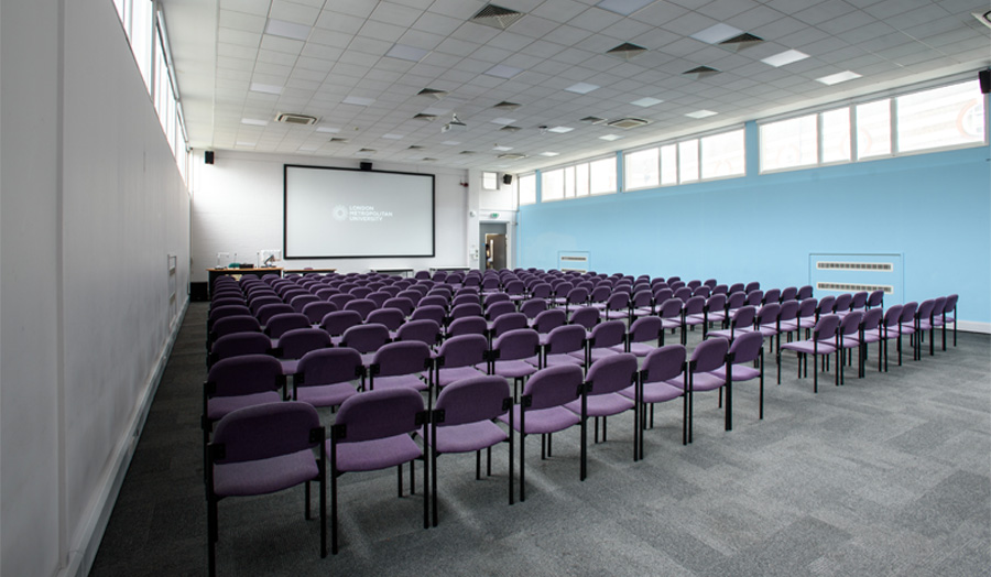 TM1-83 lecture theatre from rear of room