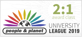 People and Planet University League logo with score