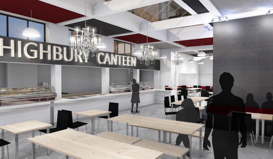 An artist impression of the new Highbury Canteen