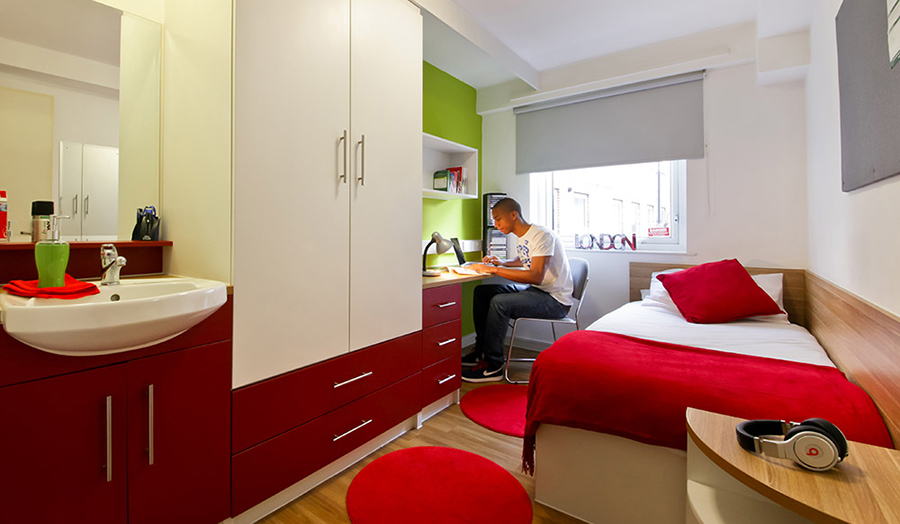 King college london accommodation student room decor