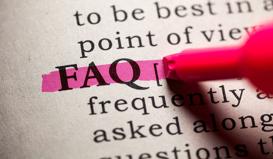 FAQs highlighted on a page