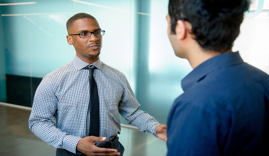 Two male students at London Met