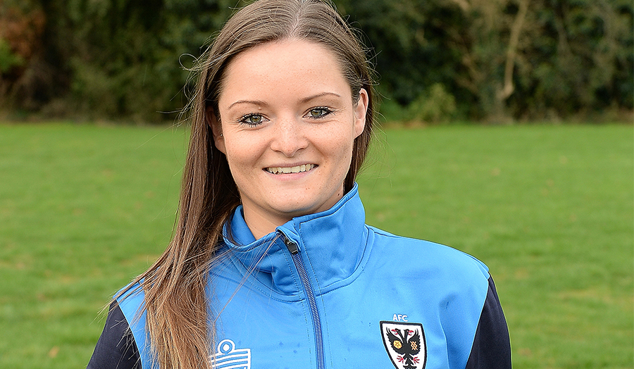 Amy Shaw, sports science graduate, AFC Wimbledon