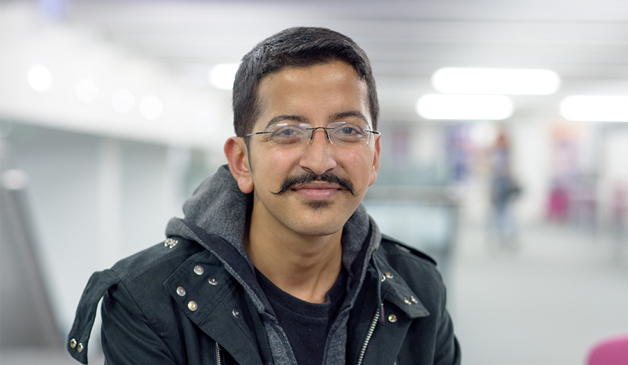 Monil Adhikari, international student profile, scholarship student