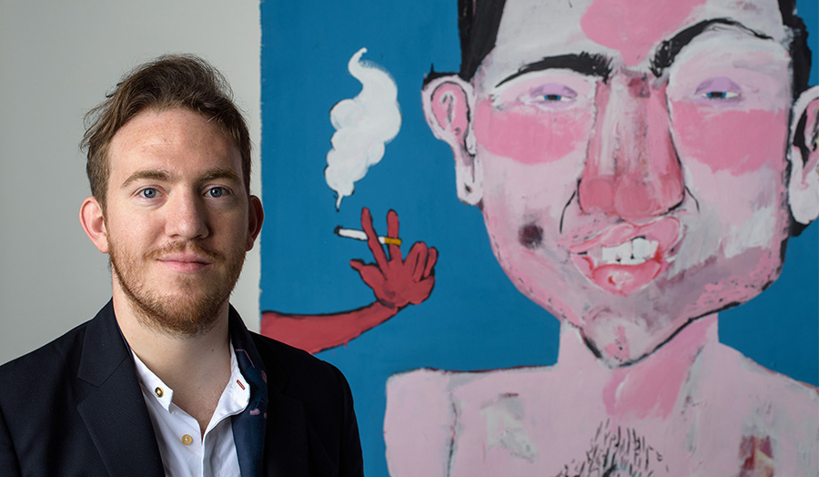 Samuel Eyles, Fine Art BA graduate, featured in The Guardian