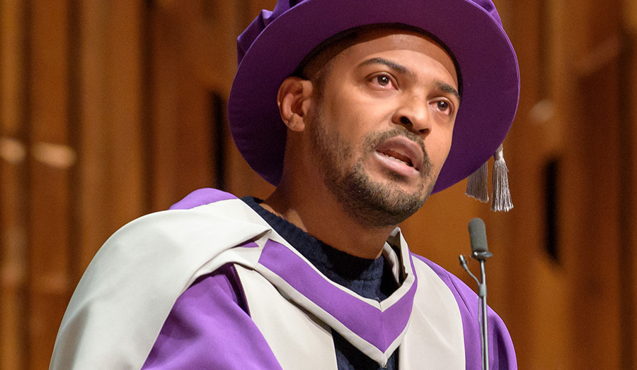 Noel Clarke, Honorary Graduate, 2016