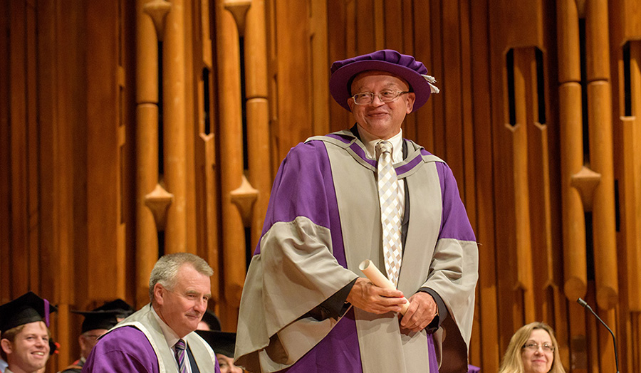 Phil Frampton honorary doctor