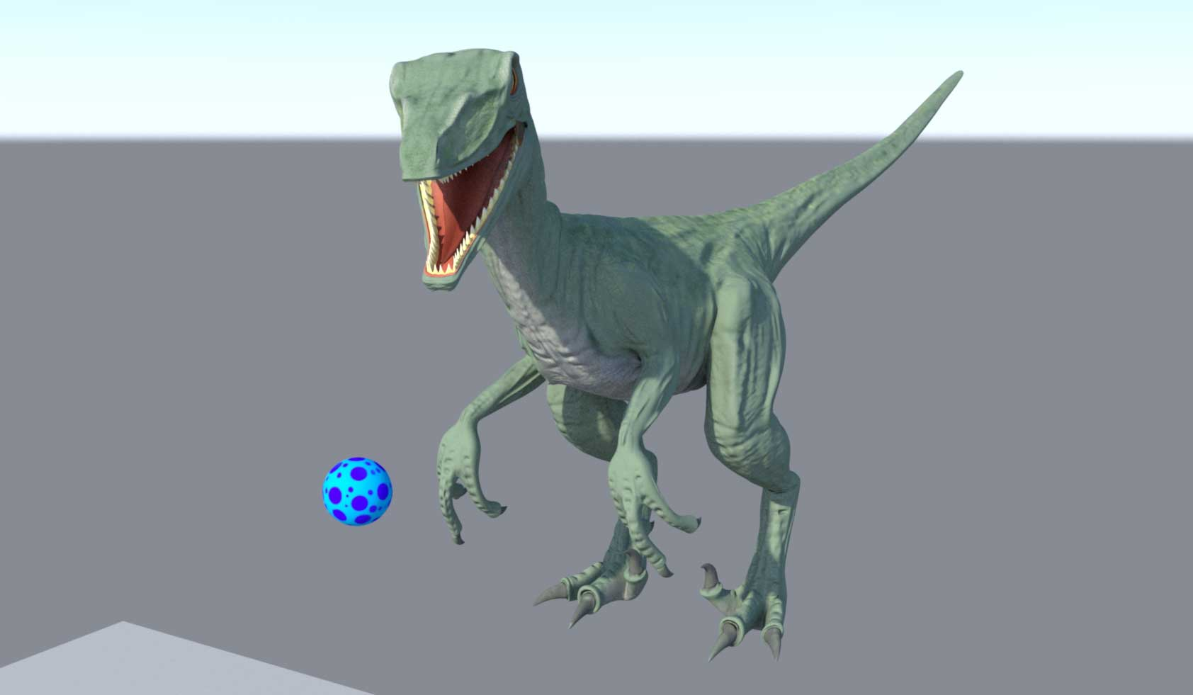 An image of a computer generated raptor