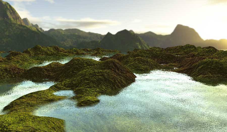 Example of games student work: procedural terrain generation
