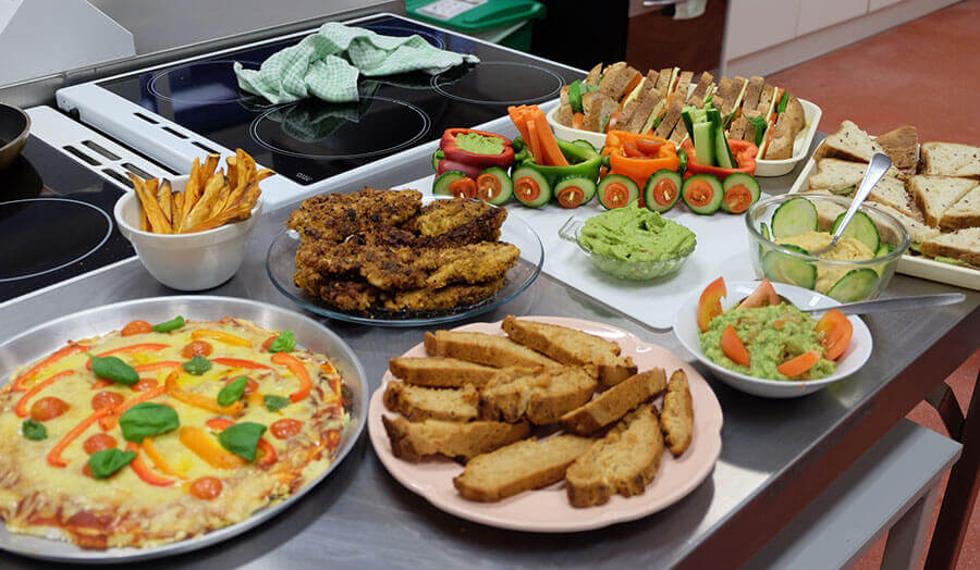 A selection of healthy dishes as part of a dietetics project