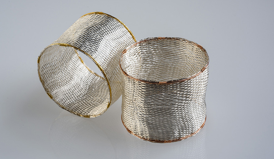 Liigah Thrower, Cuffs, Silver and Gold